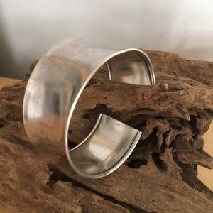 Vintage 70s Sterling Silver Cuff